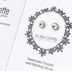 Elsa Corsey Swarovski  Studded Earrings